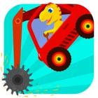 恐龙挖掘机 - 赛车和汽车儿童游戏总动员 icon