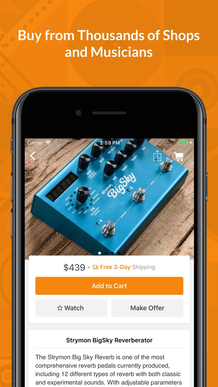 Reverb.com — Buy & Sell Gear Screenshot