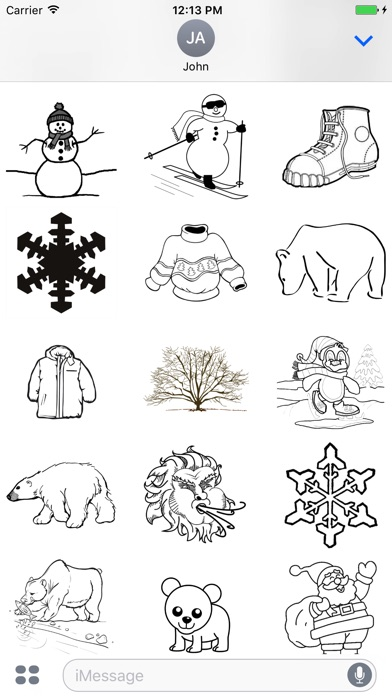 Winter Drawings Pack screenshot 2