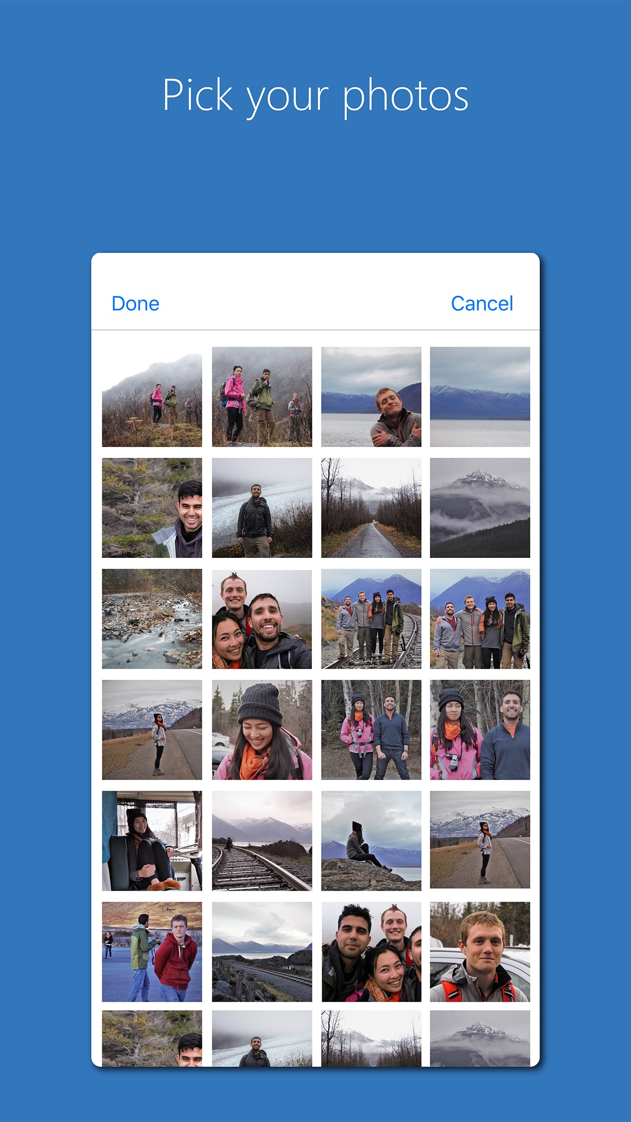 Screenshot do app Photos Companion