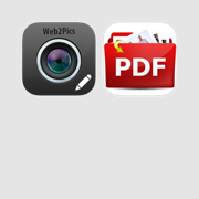 Photos to pdf and Web pages to images