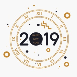 Welcome New Year 2019 Stickers