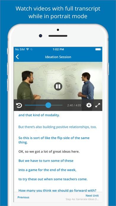 Screenshot 1 for EdX's iPhone app'