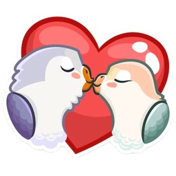 Love Of Birds Lovemoji Sticker
