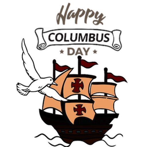 Happy Columbus Day Sticker
