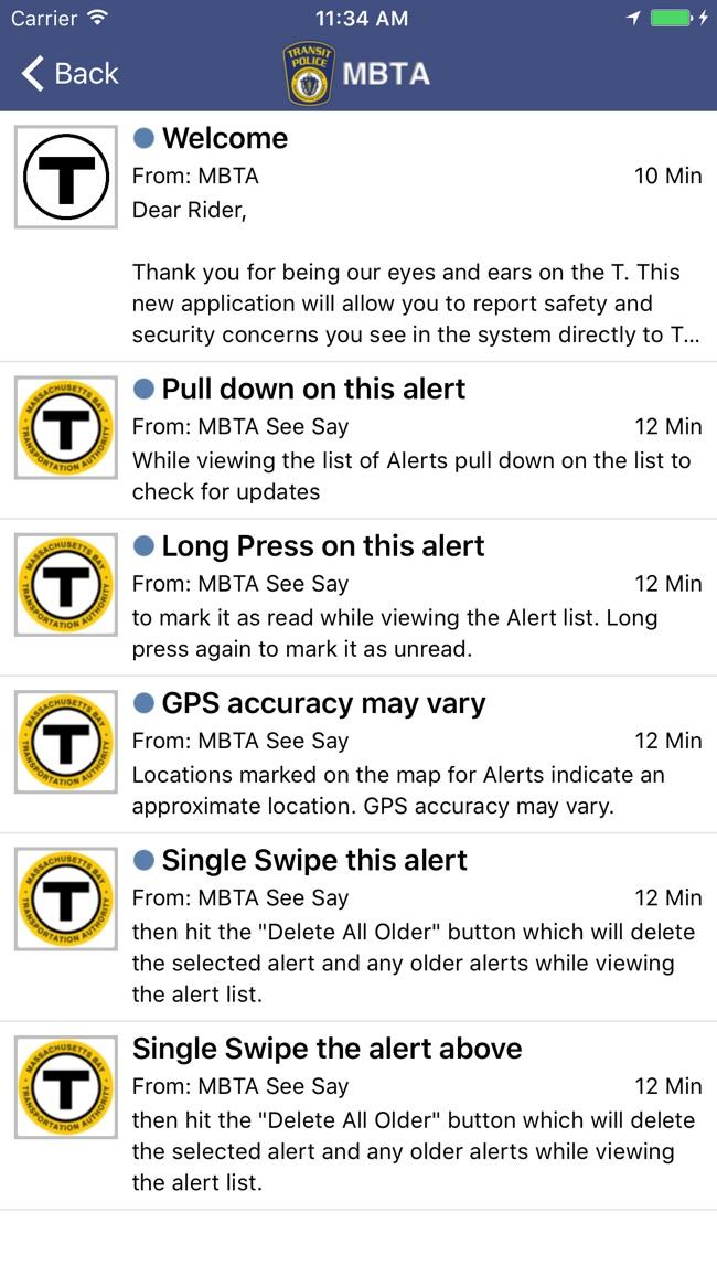 MBTA See Say Screenshot