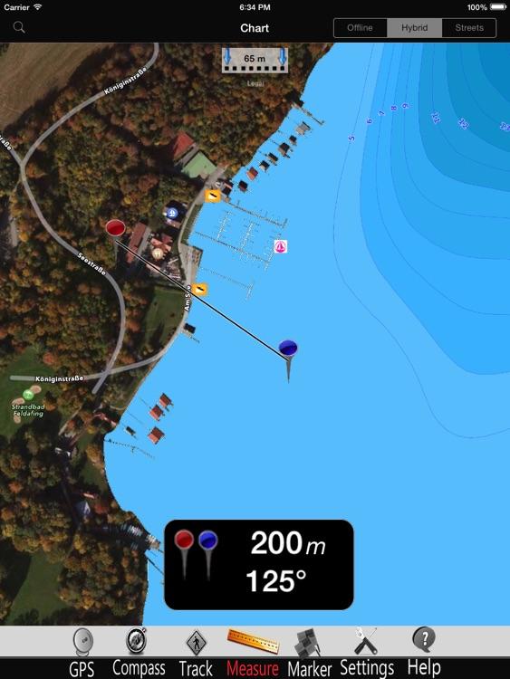 Starnberg lake GPS Charts Pro