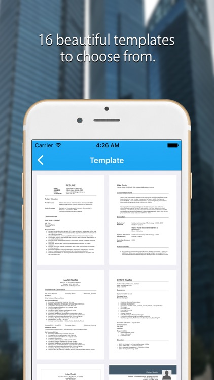 Resume Builder: CV Template