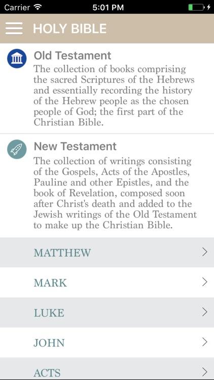 Holy Bible - King Jame version
