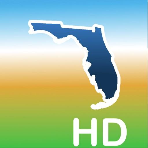 Aqua map florida lakes gps hd by gec s r l for Florida fishing app