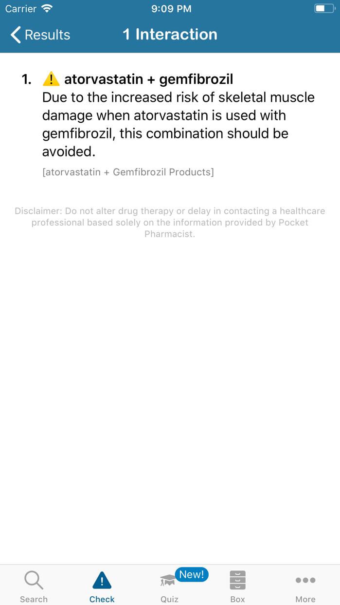 Pocket Pharmacist Screenshot