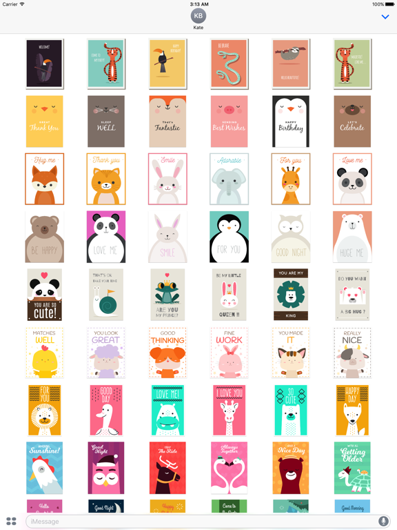 Happy Talk by Cute & Lovely Animal Characters screenshot 6