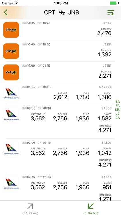 South Africa Flight Lite