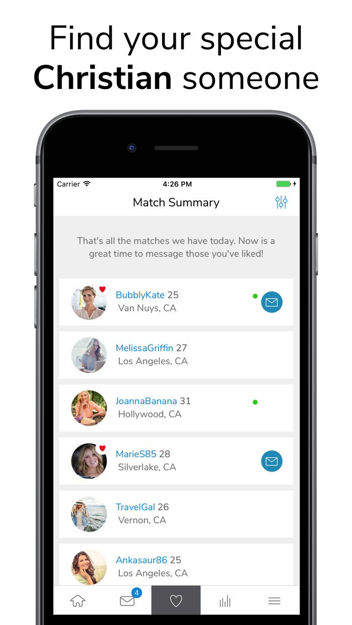 ChristianMingle - Dating App Screenshot