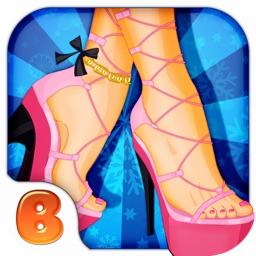 High-heeled shoes designer