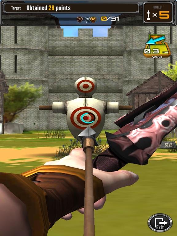 стрельба из лука большой матч на iPad