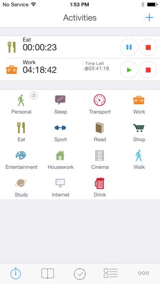 aTimeLogger 2 앱스토어 스크린샷