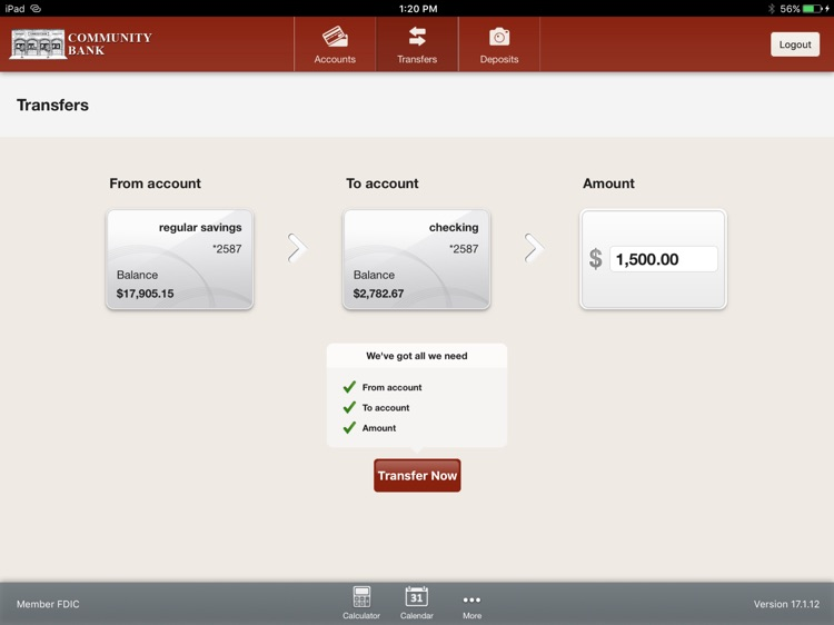 Community Bank – Avon for iPad screenshot-3