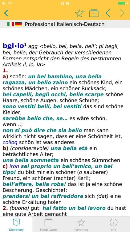 German Italian XL Dictionary screenshot-4