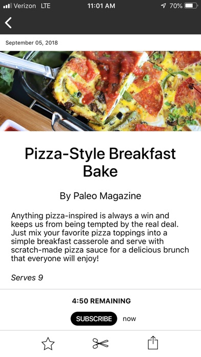 Paleo Magazine review screenshots