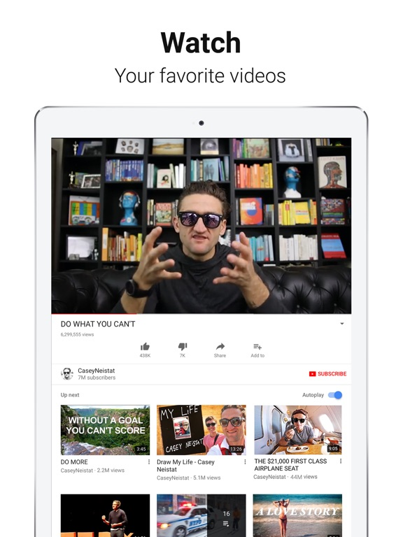 YouTube: Watch, Listen, Stream iPad
