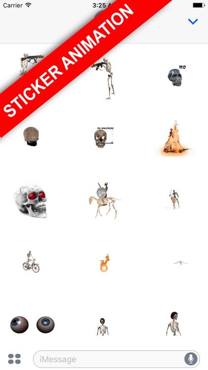 Skeleton emoji halloween
