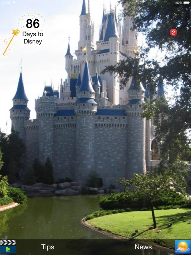 Countdown for Disney on the App