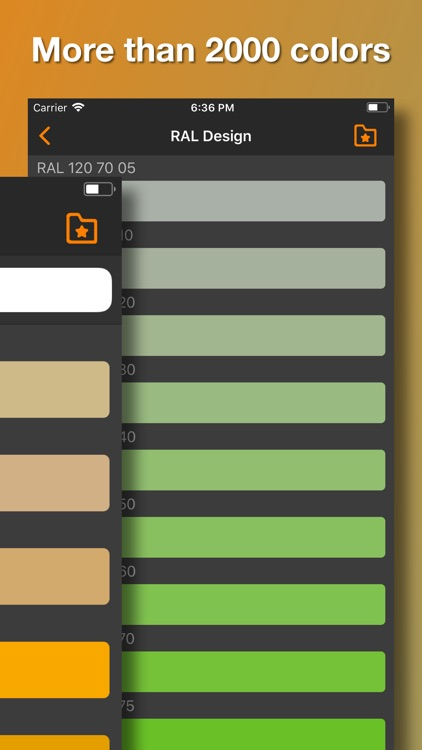 RAL color palette. 3D chart