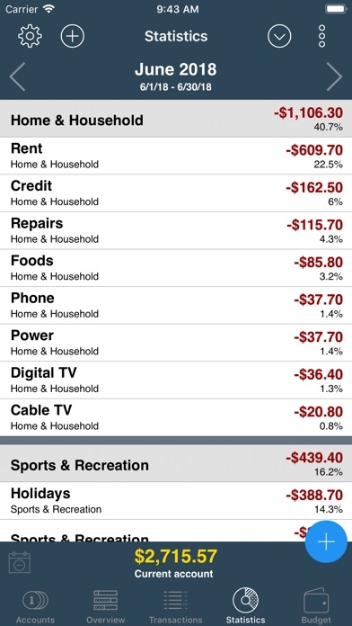 Screenshot for My Budget Book in United States App Store