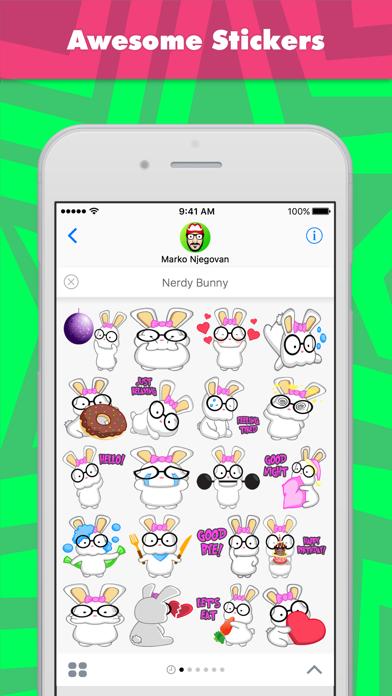 点击获取Nerdy Bunny stickers by CandyASS
