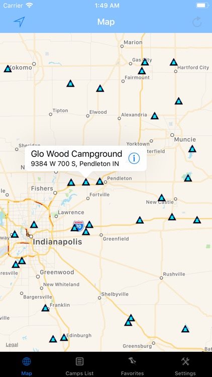 Indiana – Camping & RV spots
