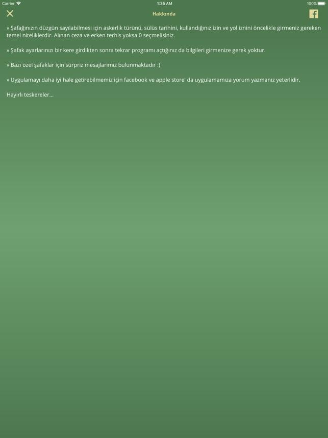 şafak Sayacı App Storeda