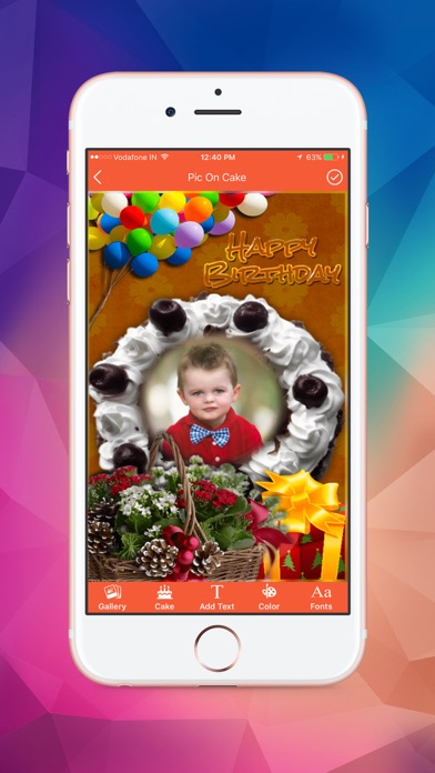 Name and Photo on Birthday Cakes screenshot four