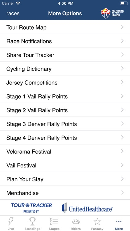 Colorado Classic Tour Tracker screenshot-9
