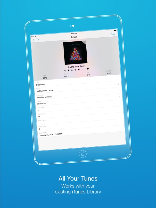 Cesium Music Player Screenshot