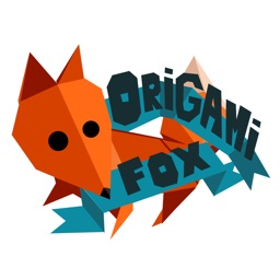 Origami Fox - a Sticker made from Real Paper