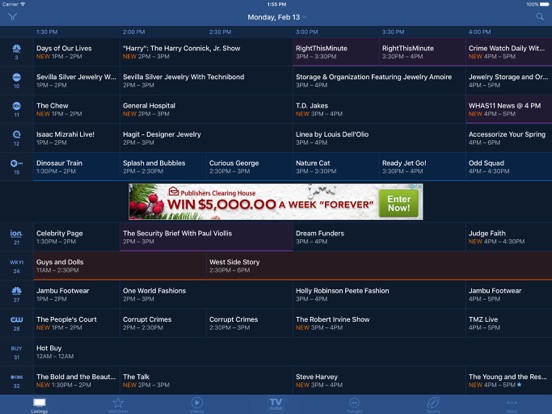 TV Guide Mobile iPad