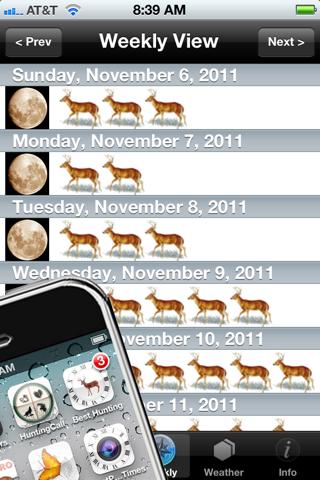 Best Hunting Times screenshot 2