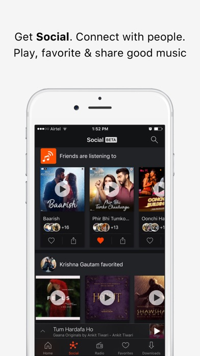 Gaana Music - Songs & Radio Screenshot
