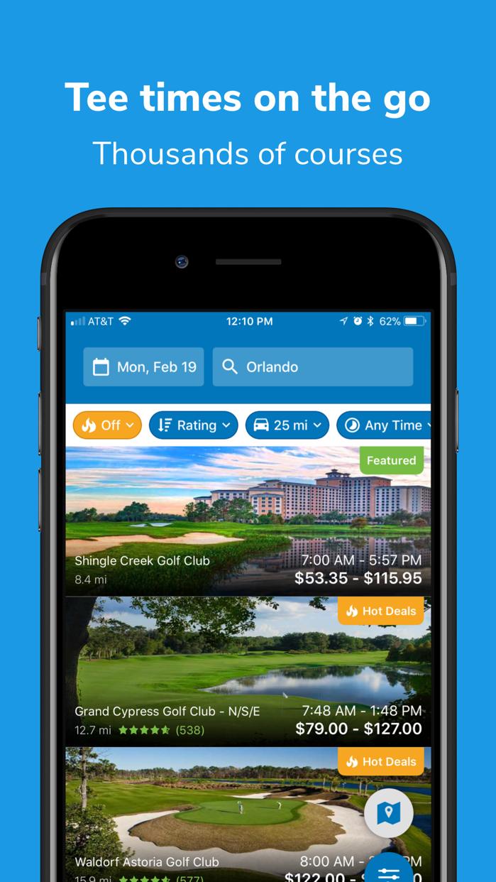 GolfNow Book TeeTimes Golf GPS Screenshot