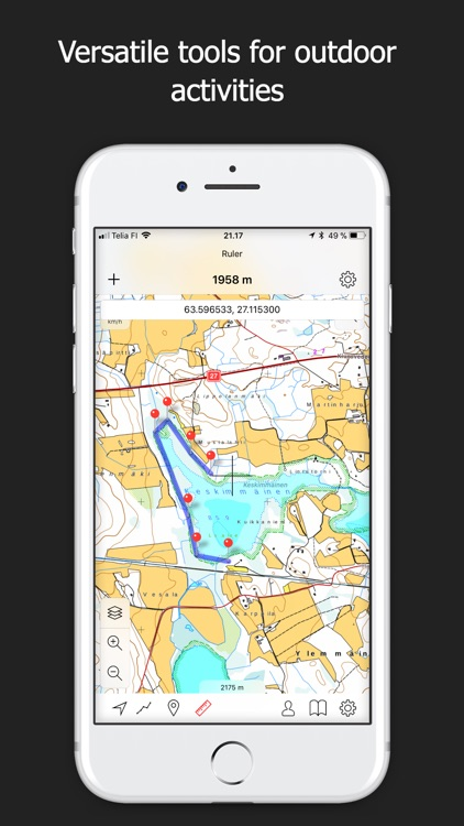 Topo Maps Finland By Shingle Oy - Topo maps app for iphone