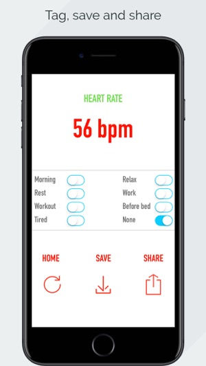 Heart Rate Monitor - Pulse App Tracker Screenshot