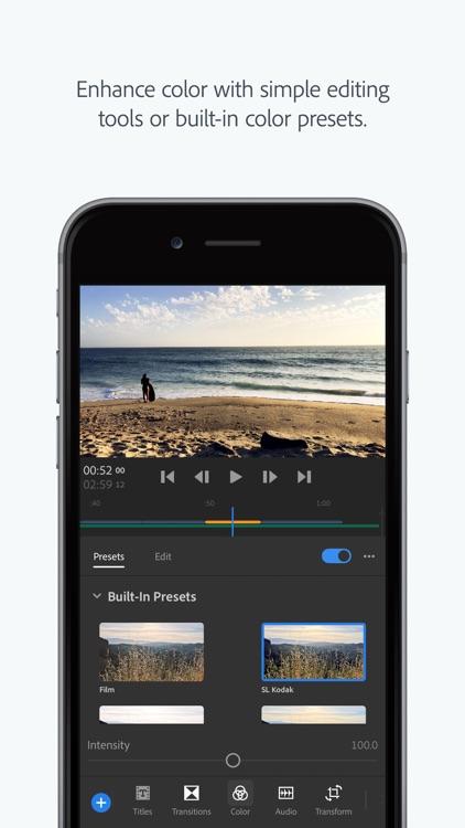 Adobe Premiere Rush CC screenshot-5