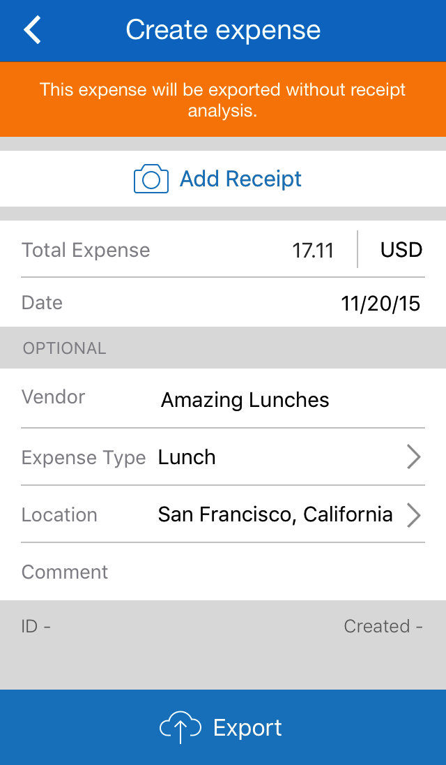 ExpenseIt from SAP Concur Screenshot