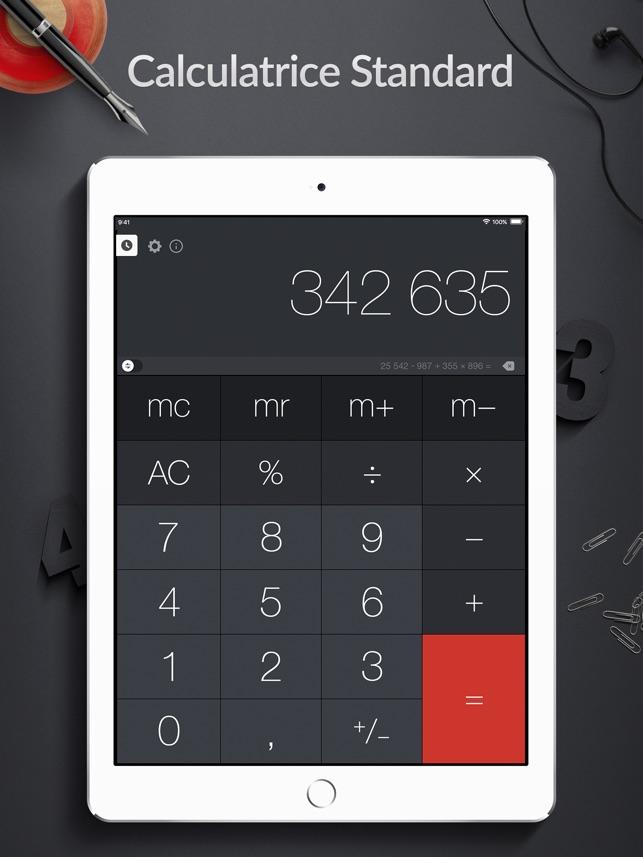 une calculette pour ipad