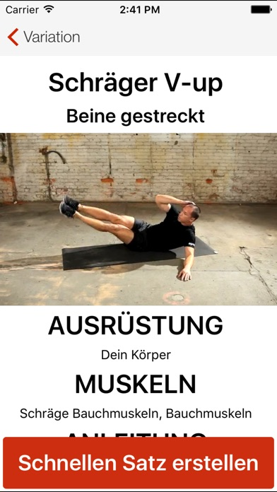 Screenshot for Bodyweight Training von Mark L in Switzerland App Store