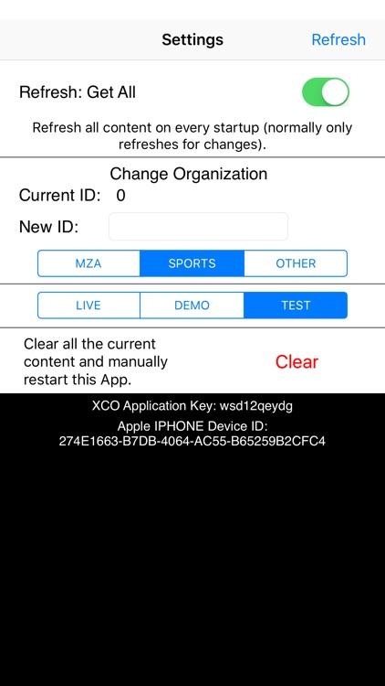 XCO Content Demonstration App