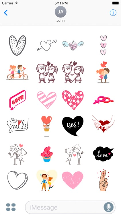 Love and Romantic Stickers