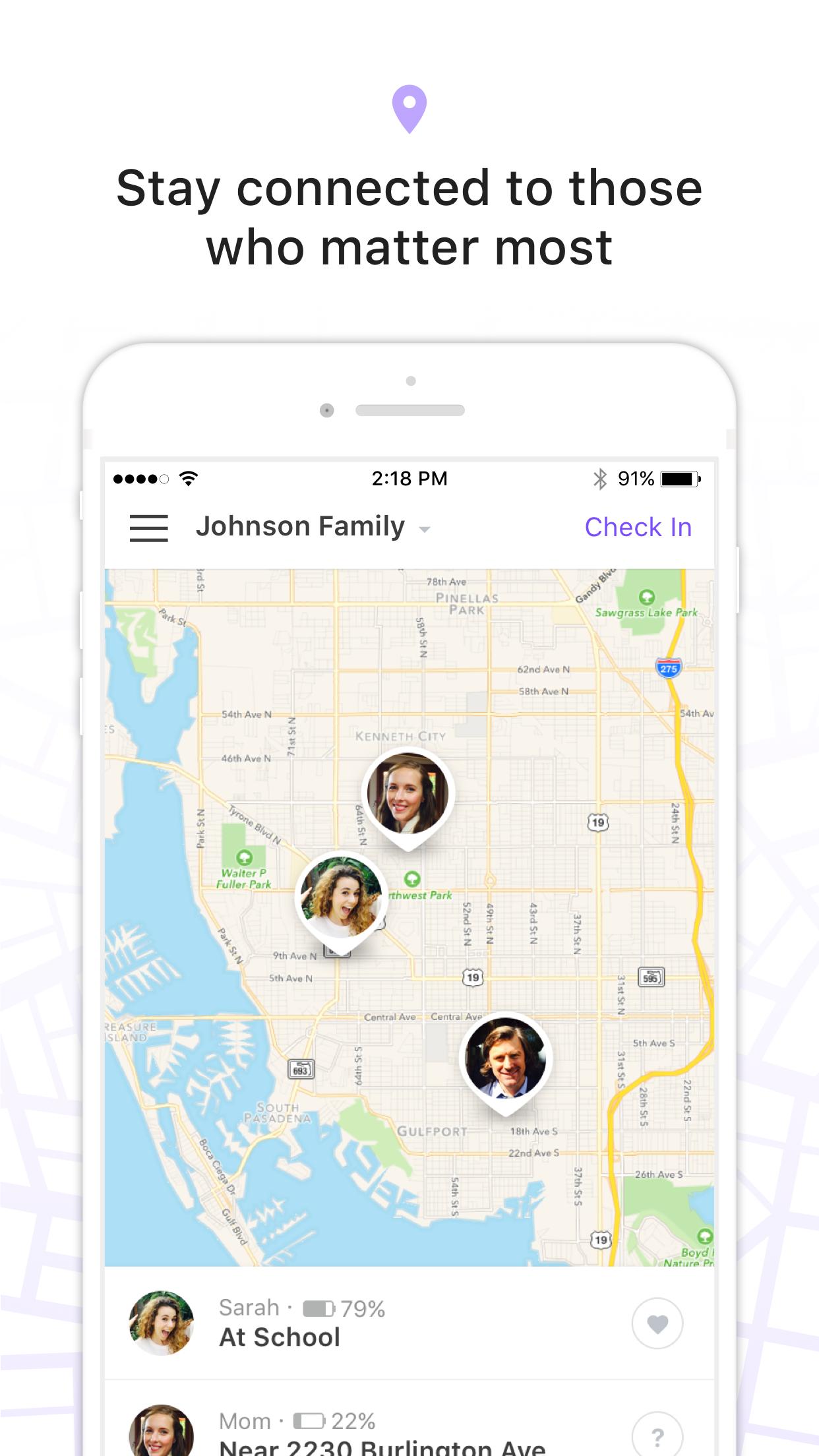 Find My Family, Friends, Phone Screenshot