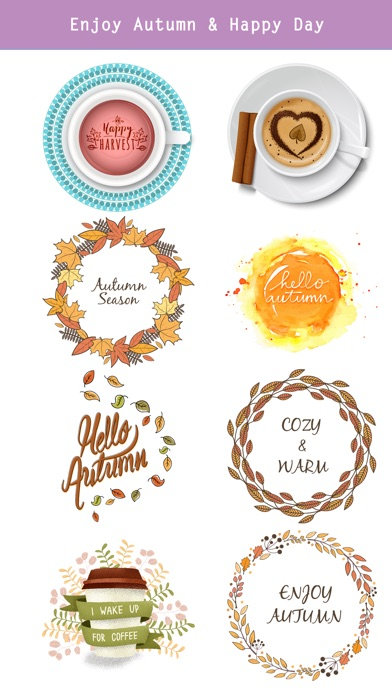Autumn Love - Coffee & Flower & Quotes screenshot 3